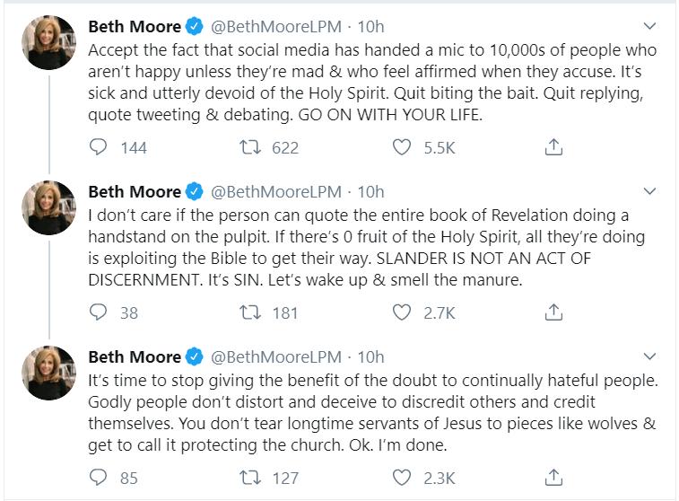 beth moore discernment attack